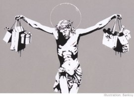 Banksy's Consumer Jesus